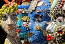 Hoofden mozaiek