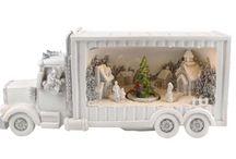 Karácsonyi asztaldísz, kamion