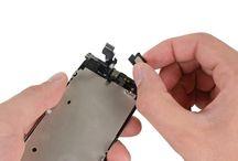 Sustitución de altavoz del auricular de iPhone 5 / Para sustituir el auricular de iPhone 5, siga los pasos siguientes.
