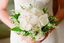 Wedding Bouquet and Flowers / Peonies, buttercups and lily of the valley