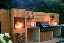 Garden ideas / Garden design and barbecue ideas