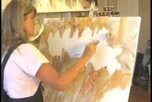 pintura em telas e artesanatos