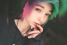 colored hair / colorful hair