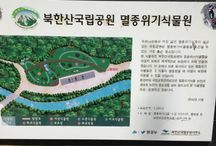 Bring It On Trail Run Road Sign 12 & Botanical Garden / 이정표와 북한산국립공원 명종위기식물원 Road Sign & Indanger of Extinction Plant Botanical Garden GPS: 37.652115  126.963509 고도(Altitude): 196m