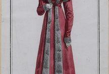 empire robe et cape avec fourrure / empirowe suknie i płaszcze z futrem
