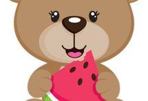 Moldes de urso