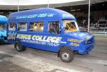 Banger Racing / Kings College Hospital Vans sprayed up for Boxing day 2011