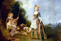 """France * Ватто *  Jean Antoine Watteau / Жан Антуан Ватто, более известный как Антуан Ватто (фр. Jean Antoine Watteau, 10 октября 1684, Валансьен — 18 июля 1721, Ножан-сюр-Марн) — французский живописец и рисовальщик, основоположник и крупнейший мастер стиля рококо.  Ватто был создателем своеобразного жанра, традиционно называемого """"галантными празднествами"""". Сущность этих сцен раскрывается не столько в их прямом сюжетном значении, сколько в тончайшей поэтичности, которой они проникнуты."""