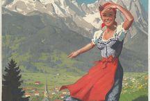 Alpine resort posters