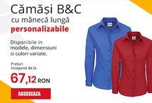 Textile personalizate / Alege sa-ti personalizezi camasile colegilor tai cu brand-ul companiei. Modalitatile de personalizare sunt variate, fie prin imprimare directa pe materialul textil, transfer termic sau chiar broterie.