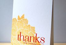 Thank you cards / by Allison