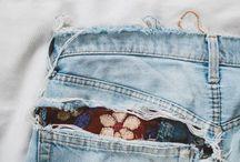 Залатать дыры на джинсах