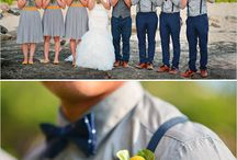 gray motif for groomsmen and bridesmaid