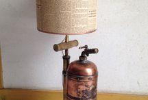 """Lampe Pulverisateur / Lampe collection Pulveris  Lampe """"telescopique"""" prix variant de 120€ à 150€ suivant le modèle"""