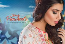 Windy Pinwheels   2 piece Embroidered & Printed Collection