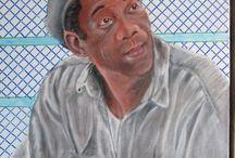 Morgan Freeman / Olieverf op doek 50/60