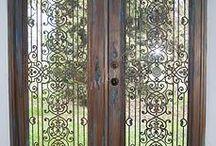 Brocante screen door