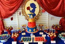 Snow white party for kids(Ginevra 1 years old)