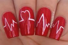 Nail art saint Valentin