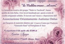 """Le Maddine nel sociale (AUTISMO) / Autismo, conoscerlo per poterlo affrontare. Le Maddine di Made in Facebook supportano fattivamente il progetto del Centro per l'Autismo """"Giancarlo Siani"""" di Napoli"""