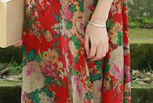 vintage simple flower dress