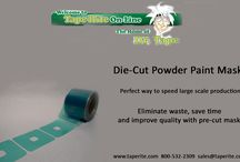 Die-Cut Tape / Die-cutting produces pre-cut pieces that are ready for application. This saves you time and money by eliminating manual labor during manufacture or assembly of your finished product. Die-cut pieces are also perfect for kits.