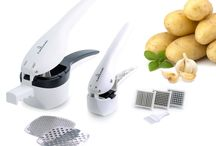 Culina Potato Ricer and Garlic Press Deluxe Set / By pressing your own garlic and making your own baby food, you avoid the unhealthy chemicals and preservatives found in store-bought jars. Three interchangeable blades allow you to cut, dice, mince and crush garlic, ginger and shallots. Durable plastic handle construction and stainless steel blades mean you will be using these devices for years to come. Comes with the Culina® 100% Satisfaction Guarantee.