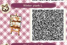 ACNL | QR | Path / Paths and patterns to put on the ground or anywhere else outsite...