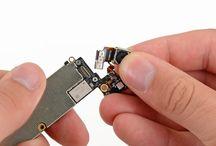 Sustitución de la cámara trasera del iPhone 5 / Para sustituir la cámara trasera del iPhone 5, siga los pasos siguientes.
