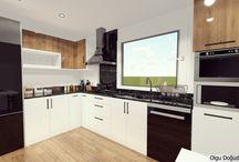 kitchen render / interior design-kitchen render