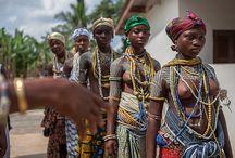 dipo Ghana / Krobo girls at Dipo Initiation Ceremony, Ghana; Africa.