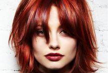 Rood Haar / Medium kapsels