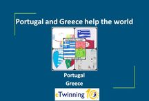 e Twinning Project Portugal and Greece help the world / An educational program 2015-2016 students study values. Learn, offer, give, love, help, share in a society where everybody wants to have