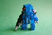 lego mech and robots