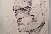 Comic art / Batman by Jim Lee. Great inspiration!