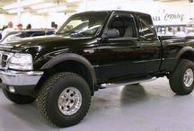 Lifted Ranger trucks