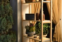 Lundia Outdoors / Lundia Shelving being used outside (Covered Space)