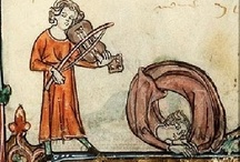 Medieval dancing and music
