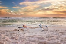 Destin Newborn Beach Photographer / I love photographing Newborns on the beach. My absolutely FAVORITE thing to do. We don't keep the babies on the beach for long & the sound of the waves usually helps the newborns sleep. Here are just a few of my favorites.
