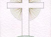 szent-kereszt fonalgrafika