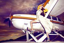 Plane  & Woman