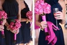 Navy, Gold And Fuschia