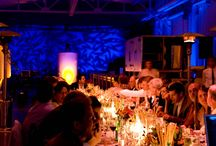 TCHO Chocolate Factory Investment Dinner - San Francisco / Lighting designer John Woods, of Enhanced Lighting was commissioned to light the historic TCHO Chocolate factory in San Francisco for a special investment dinner.   John had fun playing with color and gobo's to bring transform the factory into an elegant venue and bring the machines to life.