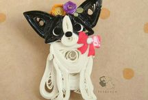 Paper quilling dog