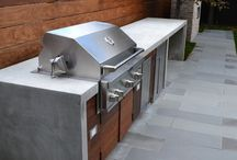 Outside: Outdoor kitchen