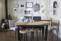 Farmhouse Style Dining Room by Jo Alcorn / A very warm and cozy, farmhouse style dining room.