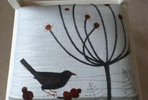 Birds - Jo's Original Work / Bird cushions, coasters, lampshades, chairs, wall hangings, greetings cards all made by Jo Hill