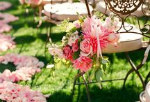 Lovely Flowers on chairs