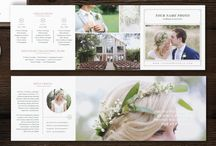 Pricing Guide Templates / Make your photography or services pricing stand out with our customizable Photoshop templates. Photography price lists, price sheet template, pricing guide trifolds.