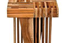 Móveis madeira de reuso